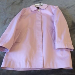 Coach Beautiful Lavender trench coat